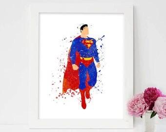 Superman Art Print Superman Print Superman Poster Superman Wall Art Superman Printable Superman Art Superhero Print Superman Artwork