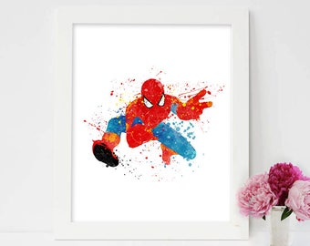 Spiderman Wall Art spiderman painting | etsy