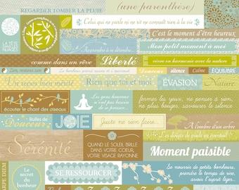 Board stickers Zen 30 x 30 cm - stickers Zen - Meditation Stickers