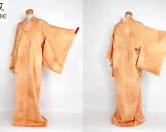 "Japanese M51102 Kyo-yuzen ""Jimon-Okoshi"" Komon Kimono Vintage"
