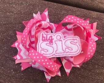 Big sister hair bow big sister bow big sister headband big sister gift big sister outfit big sister bows