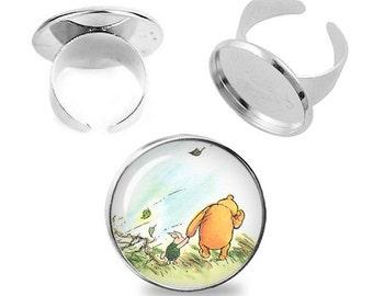 Winnie the Pooh Adjustable ring Piglet Winnie Pooh Ring Fandom Jewelry Fanboy Fangirl