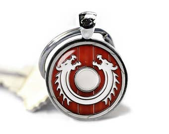 Viking Shield Key Ring Fandom Jewelry Key Chain Vikings Key Fob Norse Keychain