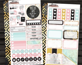 Be Who You Are // Personal Size Weekly Planner Sticker Kit