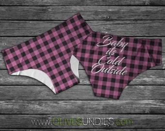 "Baby Its Cold Outside ""Hipster"" Underwear/Knickers"