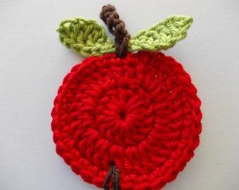 1 Red Apple - crochet
