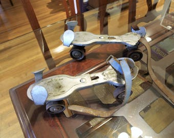 Vintage Flying Ace Metal Roller Skates by Moen and Patton Inc. Lancaster, PA