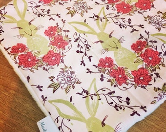 Baby Comforter - Pink Woodland Hare