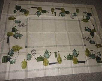 UNUSED Vintage Irish Linen Tablecloth 70X52