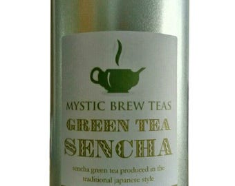 Green Tea Sencha - Loose Leaf 100g Caddy
