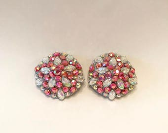 Super Tiny Rhinestone Pasties- Pink & Silver
