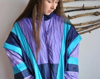 Removable sleeves windbreaker 1990s 1980s sport jacket