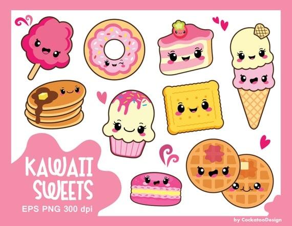 30% OFF Kawaii clipart kawaii sweets clipart kawaii food