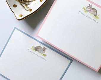 Watercolor Bunny Stationery (25)