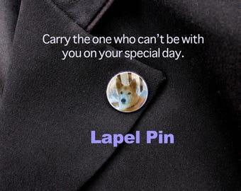 Custom Lapel Pin,  Silver Pin, Personalized Pin, Custom Pin, Remembrance, Memorial, Pet Pin, Wedding Pin, Graduation Pin