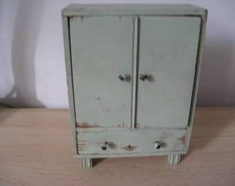 For the dollhouse ... french green two-door wardrobe ... 20 Years!