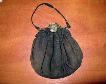 Antique french evening bag with beautiful closure, 20s ...