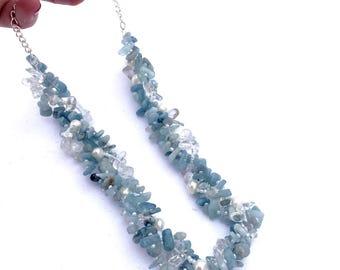 Aquamarine Dream Crystal Necklace