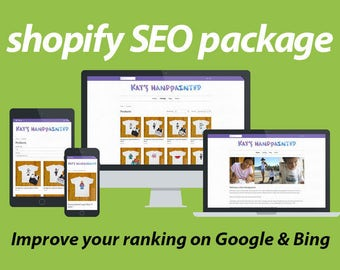 Shopify SEO // Optimize your Shopify website for search // SEO Shopify package // Ecommerce website SEO help