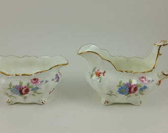 Hammersley & Co Bone China Creamer and Sugar Bowl