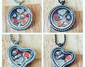 San francisco 49ers locket charm necklace! Chain included!