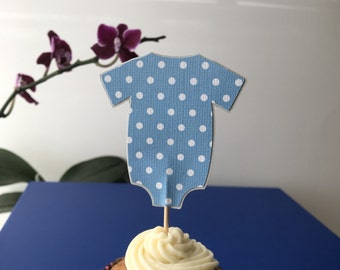 Onesie cupcakes topper, pink onesie birthday party decorations, Onesie,  cake topper, baby shower Centerpiece, set of 12