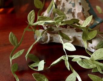 Leaf Ribbon, Green Ribbon , romantic ribbon, weddings, favors, barn wedding