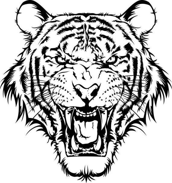 Très Tigre 1 tête Wild Cat école mascotte Company Logo. SVG. EPS. WP06
