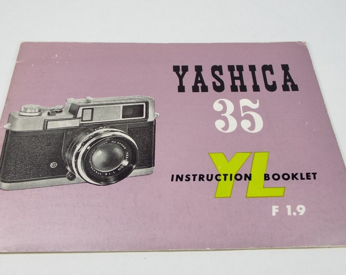 Vintage Yashica (Nicca) 35 mm YL Rangefinder Camera Owner's Manual - Original & Genuine - Exc+ Condition - Rather Rare in this Condition