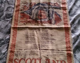 Vintage Scotland tea towel for the kitchen