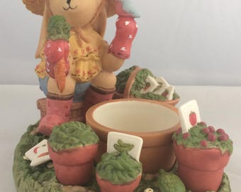 Partylite Easter Bunny Planting Carrots