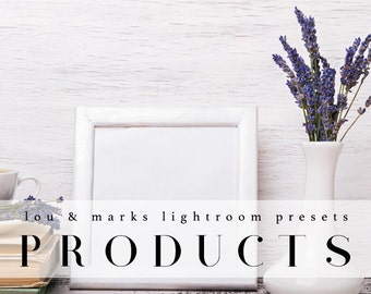 70 Professional Product Lightroom Presets Professional Photo Editing for Portraits, Newborns, Weddings By LouMarksPhoto