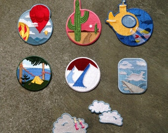 Patch Pack 8 pcs Adventure series Iron On Patch
