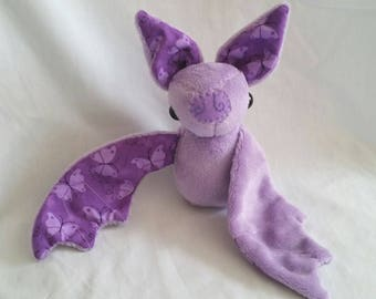 Purple Bat Plushie