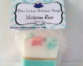 Victorian Rose - Shea Butter - Handcrafted - Melt & Pour - Bar Soap