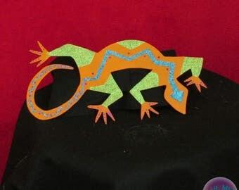 Lizard, Native American, Southwest, Metal Art, Wall Hanging,