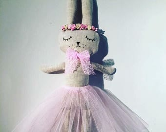 Rag Bunny theme spring summer with her tutu doll. French manufacturing