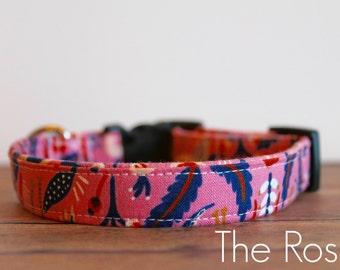 "Rifle Paper Collar, Floral Dog Collar, Chic Dog Collar, Trendy Dog Collar, Rifle Paper, Girl Dog Collar, Modern Dog Collar ""The Rosie"""