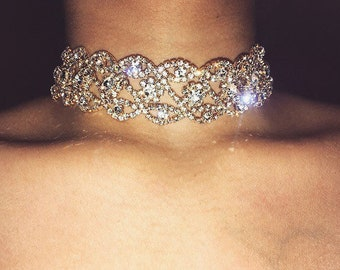 SIENNA Crystal Diamond Choker