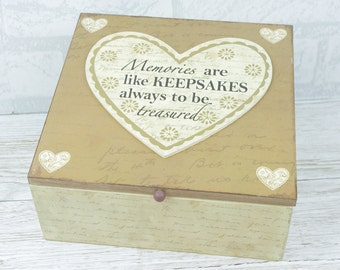Memory Box Keepsake Chest Wooden Keepsakes Always To Be Treasured SG1859 W13