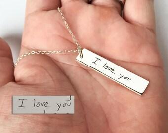 Handwriting Necklace / Memorial Signature Necklace / Actual Handwriting Necklace / Personalized Necklace / Bridesmaid Gift