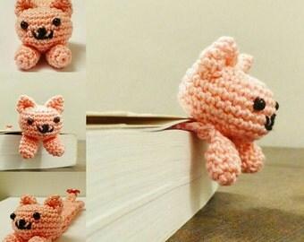 Cat amigurumi bookmark - pink bookmarks - crochet book accessories