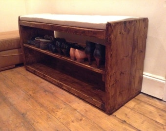 Le Morlaix a hand-crafted seat, and shoe/display stand