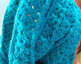 Post and Shell Stitch Cowl