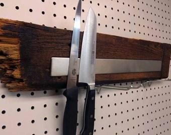 Magnetic wooden knife holder, Magnetic knife rack, Magnetic knife block, Magnetic knife strip #PL00117