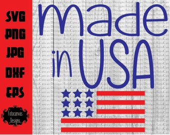 Made In USA SVG, Independence Day, Fourth of July, Silhouette Cameo, Cricut, Cutting File, American Flag, Memorial Day, 4th, ClipArt