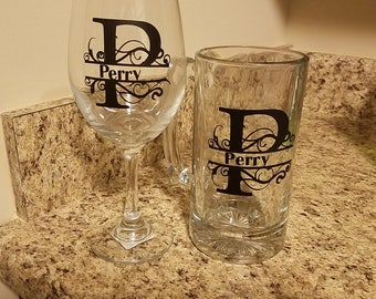 His and Hers glassware