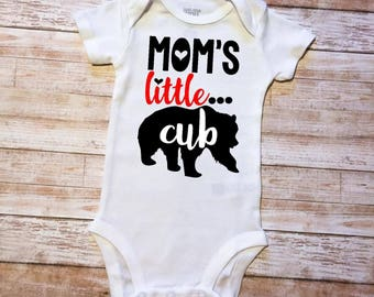 Mom's Little Cub Baby Onesie Black Onesie/White Onesie/Boy/Girl/Pink/Blue/Jade/Red