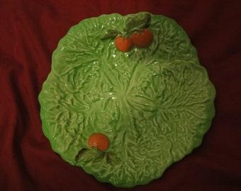 cabbage leaf plate carlton ware