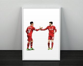 Lallana & Firmino Liverpool Poster